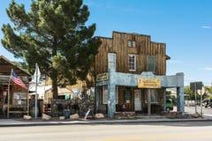 Beatty main street, Nevada. Beatty, Nevada,USA - July 9, 2016 : View of the Main Street in Beatty Royalty Free Stock Images