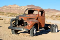 Abandoned old pickup car in Rhyolite ghost town Royalty Free Stock Photos