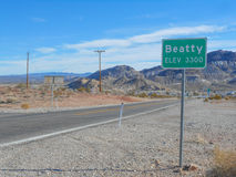 Beatty town in Death Valley. Nevada USA Stock Photo