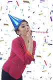 Beatufitul Woman Celebrating New Year Royalty Free Stock Image