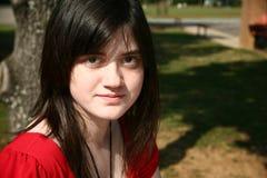 Beatufiul teenager al banco Fotografia Stock Libera da Diritti