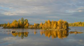Beatuful autumn landscape. In Sweden Royalty Free Stock Image