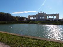 Sunbeam over the Gloriette stock photography