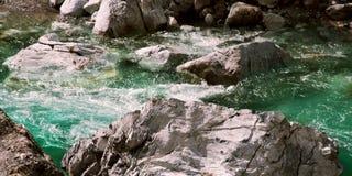 Beatuiful Valbona river in Albania water rocks nature Stock Photography