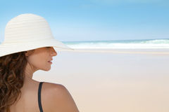 Beatuiful woman at the beach Stock Photography