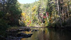 Beatutiful fall on the Chatooga river Royalty Free Stock Photography