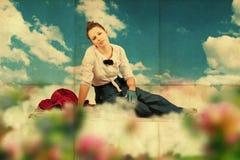 beaty детеныши женщины сбора винограда коллажа бесплатная иллюстрация