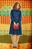 beaty kolażu rocznika kobiety młode fotografia royalty free