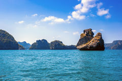Beaty limestone rock in the ocean Royalty Free Stock Photos