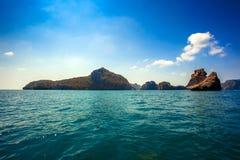 Beaty limestone rock in the ocean Royalty Free Stock Photo