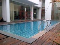 Beaty privé zwembad royalty-vrije stock fotografie