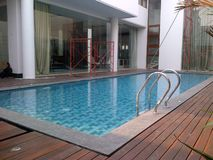 Beaty private swimming pool royalty free stock photography