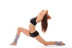 Beau amincissez le femme de forme physique de danse Photo stock