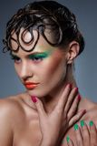 Beau, artistique maquillage Photos stock