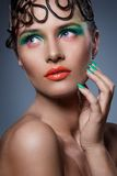 Beau, artistique maquillage Photographie stock