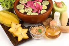 Beau avec le carambolier naturel et biologique des fruits d'étoile image stock