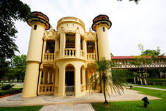 Beau bâtiment dans le palais de Sanamchan chez Nakhon Pathom, Thaïlande Photographie stock