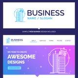 Beau bâtiment de marque de concept d'affaires, ville futée, technologie illustration libre de droits