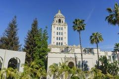 Beau bâtiment principal d'hôtel de ville de Beverly Hills photographie stock libre de droits