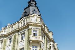 Beau bâtiment vert de vintage à Sofia, Bulgarie Photos stock
