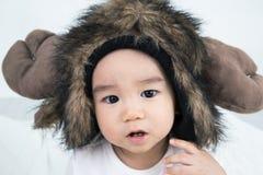 Beau bébé mignon asiatique de sourire Images stock