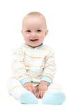 Beau bébé riant photo stock