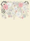 Beau backgroung avec la décoration florale Image libre de droits