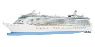 Beau bateau de croisière énorme d'isolement sur le fond blanc illustration stock