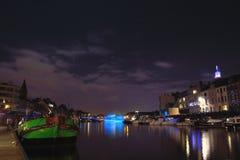 Beau bateau vert Photos libres de droits
