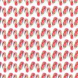Beau beau modèle mignon lumineux d'été de confort d'illustration verte rouge de main d'aquarelle de bascules électroniques de pla illustration libre de droits