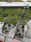 Beau biplan d'airshow de Boeing Stearman image libre de droits