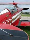 Beau biplan expérimental de Pitts S-2 d'airshow photo libre de droits