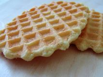 Beau biscuit de gaufre photo libre de droits
