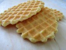 Beau biscuit de gaufre Photographie stock libre de droits