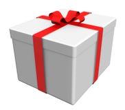 beau blanc de cadeau de cadre Photo stock
