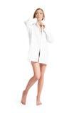 beau blanc de chemise de fille Image libre de droits