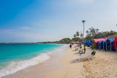Beau Blanca de Playa ou plage blanche près de Photos libres de droits