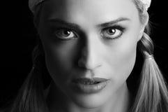 Beau blond en plan rapproché Photographie stock libre de droits
