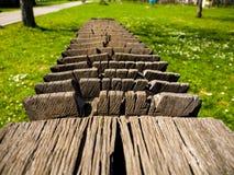 Beau bois découpé Photo libre de droits