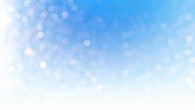 Beau bokeh de particules de neige, contre le bleu illustration stock