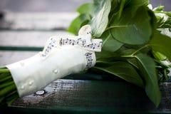 Beau bouquet blanc de mariage Photographie stock libre de droits
