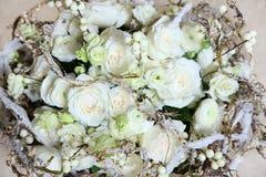Beau bouquet blanc des fleurs Images libres de droits