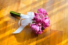 Beau bouquet d'ensemble de lotus Photos libres de droits
