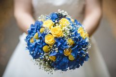 Beau bouquet de mariage photo stock