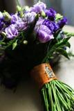 Beau bouquet de mariage des fleurs d'eustoma Photographie stock libre de droits