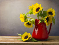 Beau bouquet de tournesol Image libre de droits