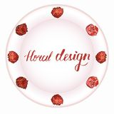 Beau bouquet des pivoines d'un plat de rose illustration stock