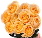 Beau bouquet des roses jaunes Photo stock