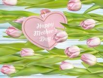 Beau bouquet des tulipes pourpres ENV 10 Image stock