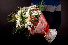 Beau bouquet - un grand cadeau pour les vacances image stock